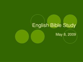 English Bible Study