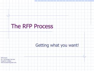 The RFP Process