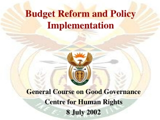 Budget Reform and Policy Implementation