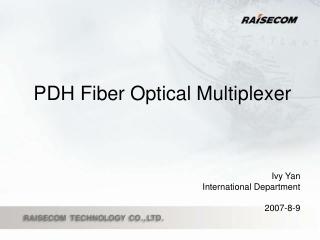 PDH Fiber Optical Multiplexer