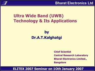 Ultra Wide Band (UWB) Technology & Its Applications