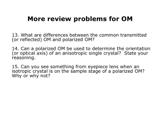 More review problems for OM