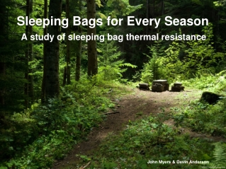 Sleeping Bags for Every Season