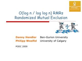 O(log n / log log n) RMRs  Randomized Mutual Exclusion