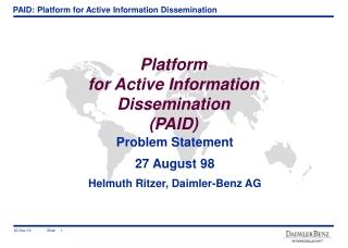 Platform  for Active Information Dissemination (PAID)