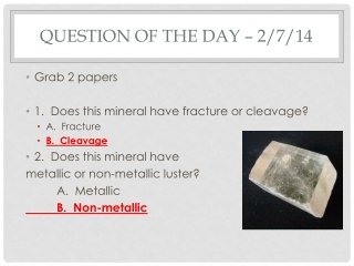 Question of the Day – 2/7/14