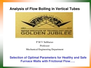 Analysis of Flow Boiling in Vertical Tubes