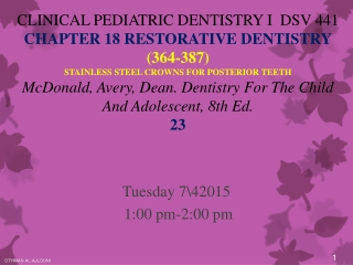 Tuesday 7\42015  1:00 pm-2:00 pm