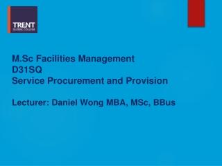 Service Procurement  and Provision