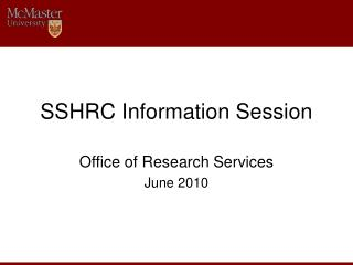 SSHRC Information Session