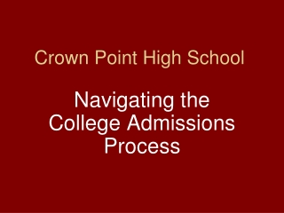 Crown Point High School