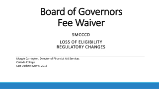 Board  of  Governors Fee Waiver