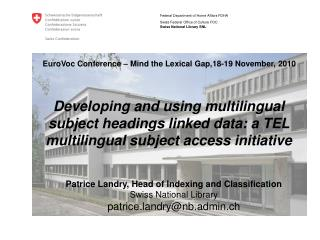EuroVoc Conference – Mind the Lexical Gap,18-19 November, 2010