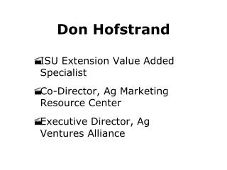 Don Hofstrand