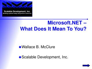 Microsoft.NET –  What Does It Mean To You?