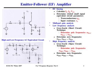 Emitter-Follower (EF)  Amplifier