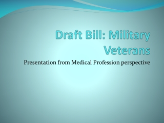 Draft Bill: Military Veterans