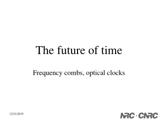 The future of time