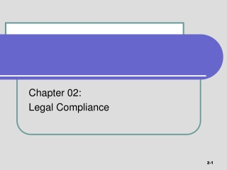 Chapter 02:   Legal Compliance