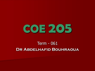 COE  205