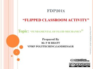 """FDP201x """" FLIPPED CLASSROOM ACTIVITY"""""""