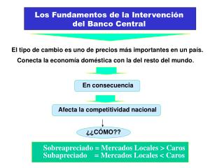Los Fundamentos de la Intervención del Banco Central