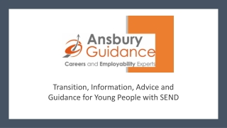 Transition to Adulthood for Young People with SEN and Disabilities