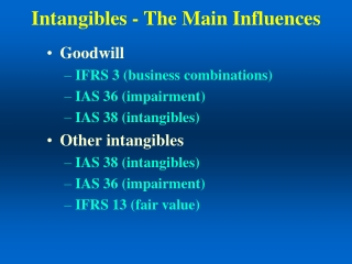 Intangibles - The Main Influences