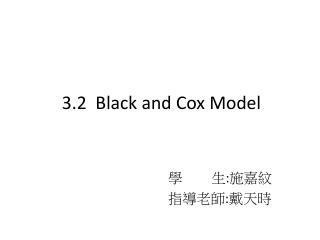 3.2  Black and Cox Model