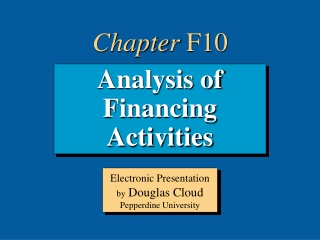 Analysis of Financing Activities