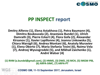 PP INSPECT  report