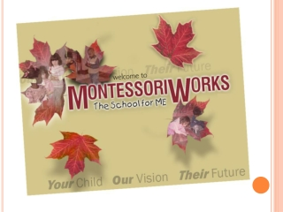 montessoriworks preschool program curriculum to develop chil