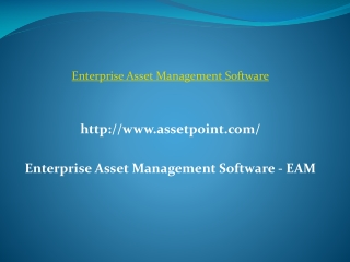Enterprise Asset Management Software - EAM