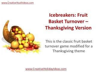 Icebreakers: Fruit Basket Turnover – Thanksgiving Version