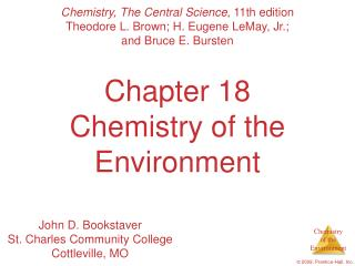 Chapter 18 Chemistry of the Environment