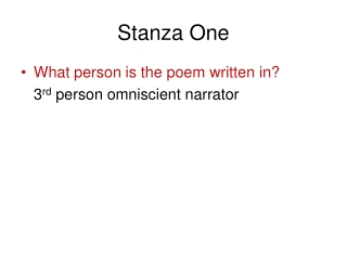 Stanza One