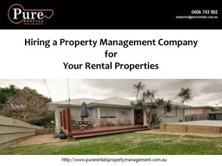 Hiring a Property Management Company for Your Rental Propert