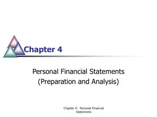 Personal Financial Statements Preparation and Analysis