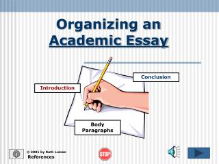 Organizing an  Academic Essay