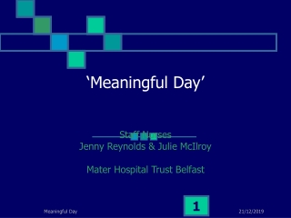'Meaningful Day'