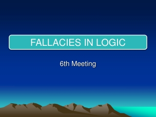 6th Meeting