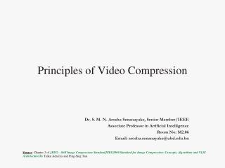 Principles of Video Compression