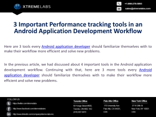 3 Important Performance Tracking Tools In An Android Applica