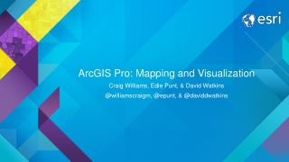 ArcGIS Pro: Mapping and Visualization