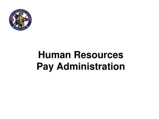 Human Resources  Pay Administration