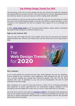 Top Website Design Trends For 2020