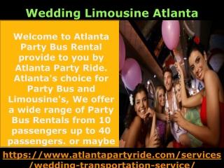 Why Most People always choose LIMO RENTAL SERVICE ATLANTA-Atlanta Party Ride