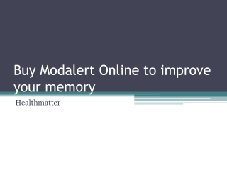 Buy Modalert Online to improve your memory