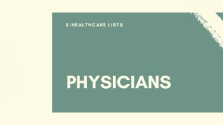 Physicians Mailing List  Physicians Email List  Physicians in USA