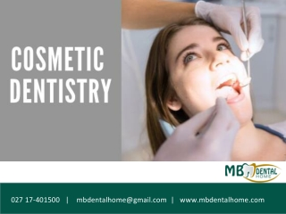 What does Cosmetic Dentistry include?